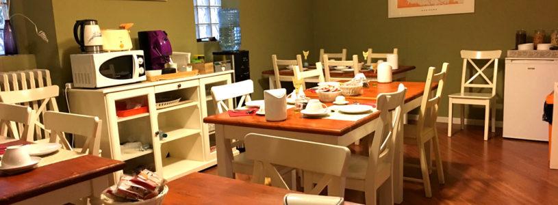 Il nuovo stile della sala colazioni